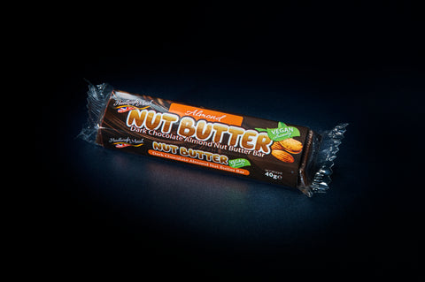 NEW VEGAN FRIENDLY Dark Chocolate Almond Nut Butter Bar - (40g)