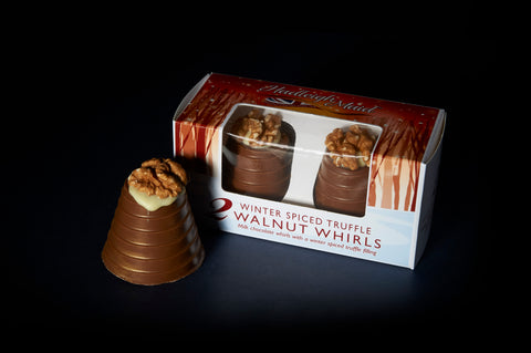 Milk Chocolate Winter Spiced Truffle Walnut Whirls - Twin Pack (92g)