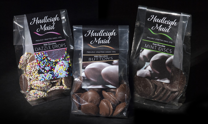 Milk Chocolate Buttons & Dazzle Drops and Dark Mint Chocolate Discs (85g & 90g)