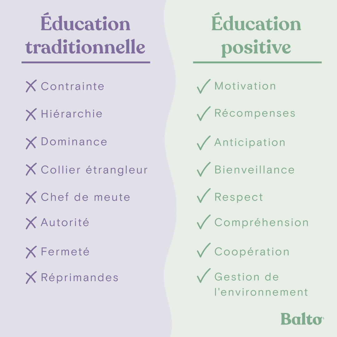 Education positive vs. traditionnelle