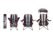 Load image into Gallery viewer, Premium Portable Camping Folding Lawn Chairs with Canopy