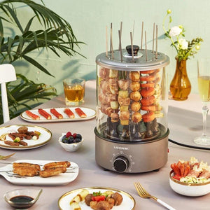 Electric BBQ Grill With 360 ° Smokeless Automatic Rotating Can Hold 12 Strings