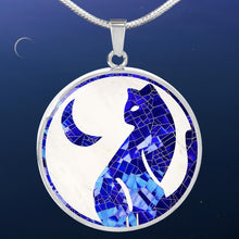"Load image into Gallery viewer, ""The Cat and The Moon"" Luxury Necklace"
