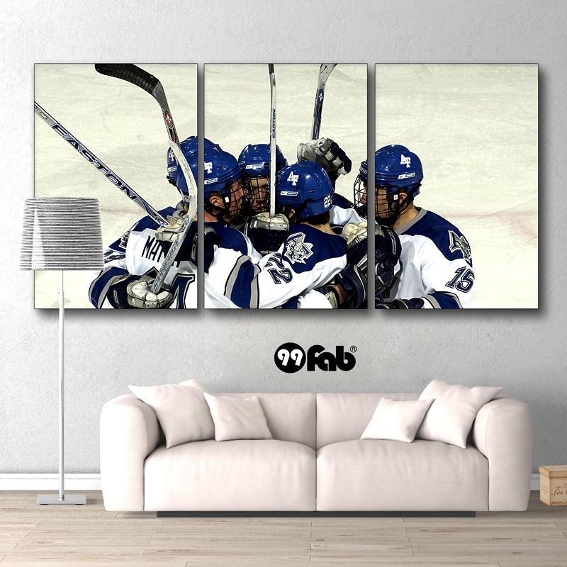 3 Panel Ice Hockey Players Wall Art Canvas - wall art - Gaghy.com