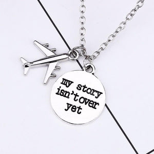 Silver Travel Pendant Necklace - TEROF