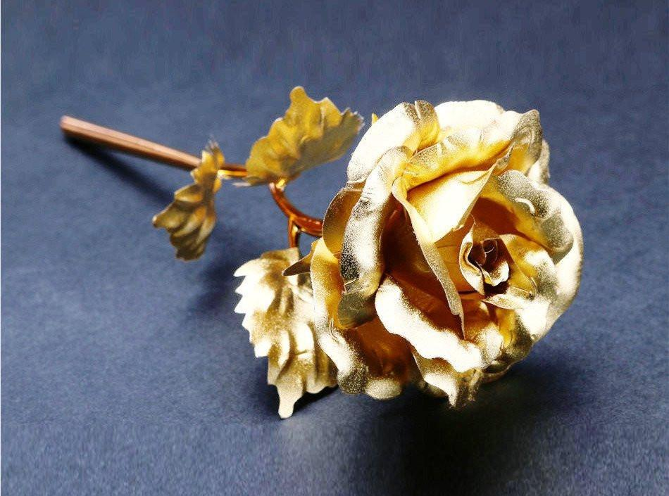 24k Gold Foil Rose - With Box - women accessories - Gaghy.com