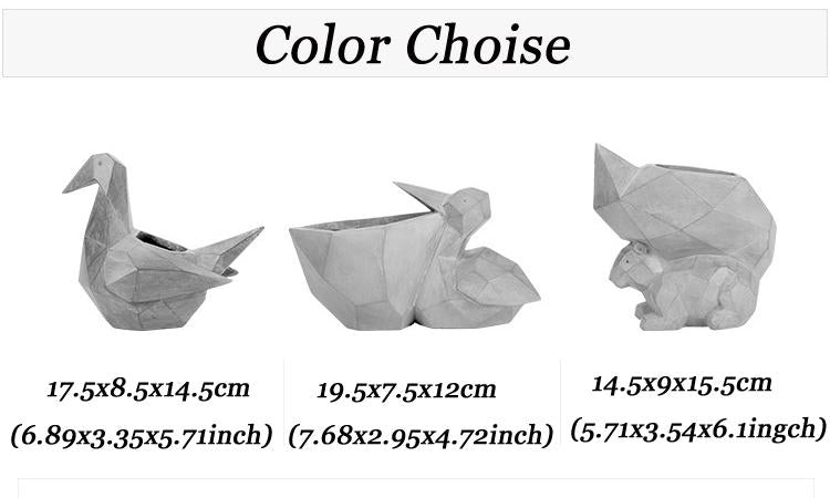 Mini Flowerpot Paper Cranes Shape Animal Bonsai Planter Pots - decor - Gaghy.com