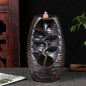 Ceramic Backflow Waterfall Smoke Incense Burner Censer Holder - decor - Gaghy.com