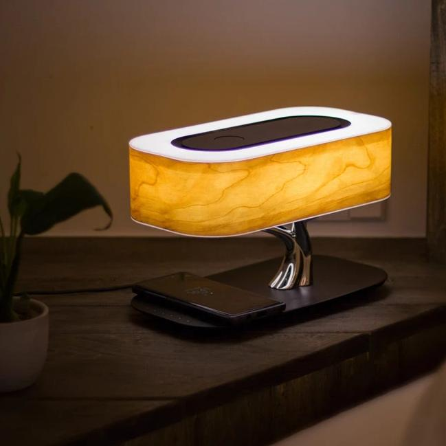Light Of Tree Table Lamp Bluetooth WiFi Speaker Wireless Phone Charging - table lamp - Gaghy.com