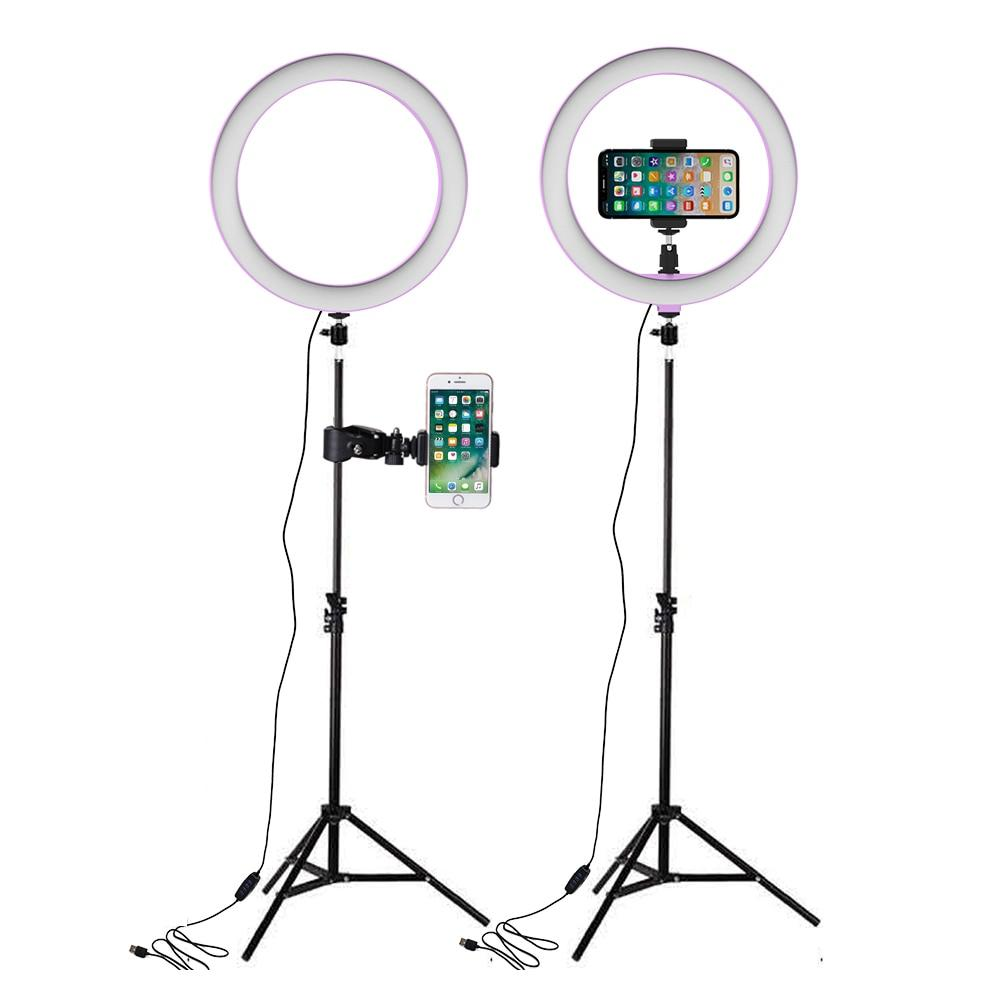 26cm LED Ring Lights with 160cm Tripod Light for Selfie Annular Lamp