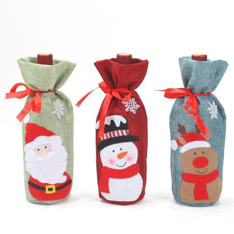 Christmas Snowman Wine Bottle Cover - Bottle Cover - Gaghy.com