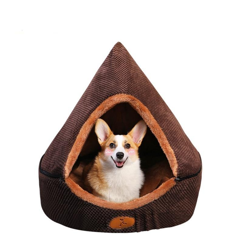 Pet Dog Cat Tent House All Seasons Dirt-resistant Soft Yurt Bed