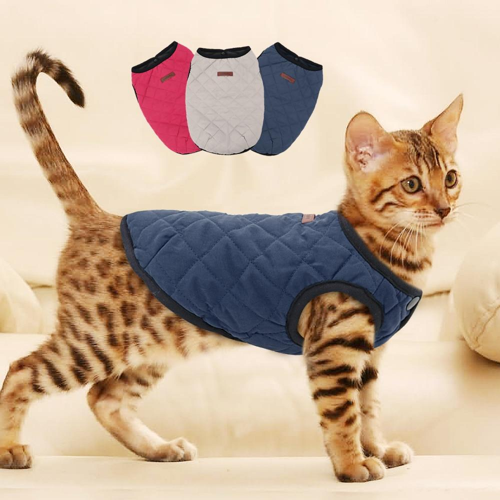 Cat Dog Clothes Chihuahua Kitten Clothes Outfit Vest Winter Clothes