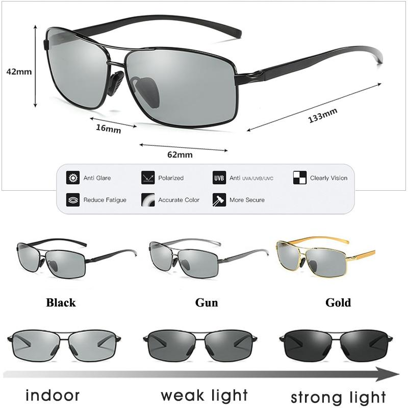 Photochromic Sunglasses Polarized Chameleon Driving Goggles Anti-glare