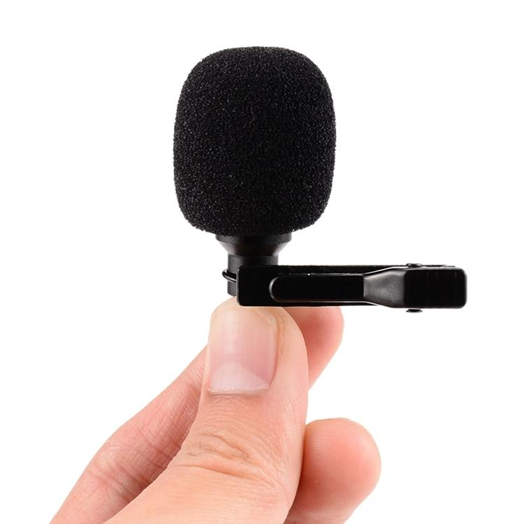 Omnidirectional Metal Microphone 3.5mm Jack Lavalier Tie Clip Microphone