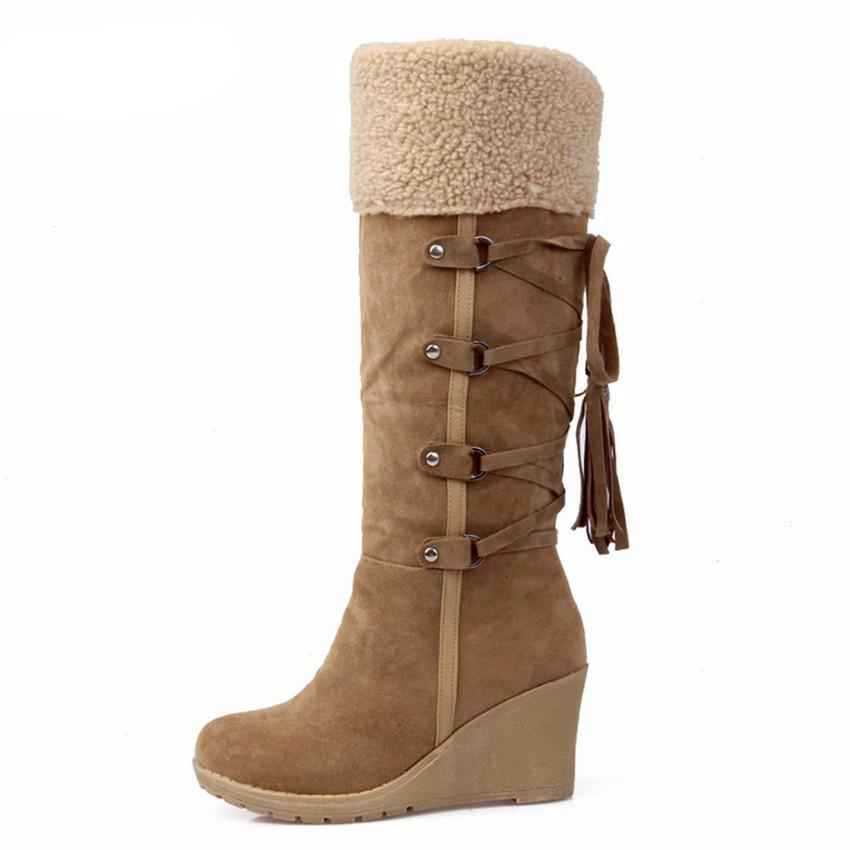 Scrub Plush Snow Boots For Woman - women shoes - Gaghy.com