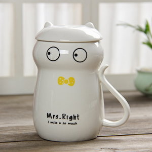 High Quality Original Ceramics with Lid Cat Mug - Cat mug - Gaghy.com