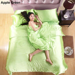 Luxury Pure Color Satin Silk Bedding Set 4pcs - bedding - Gaghy.com