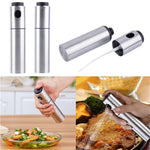 Stainless Steel Olive Spraying Bottle Thumb Push Sprayer - kitchen - Gaghy.com