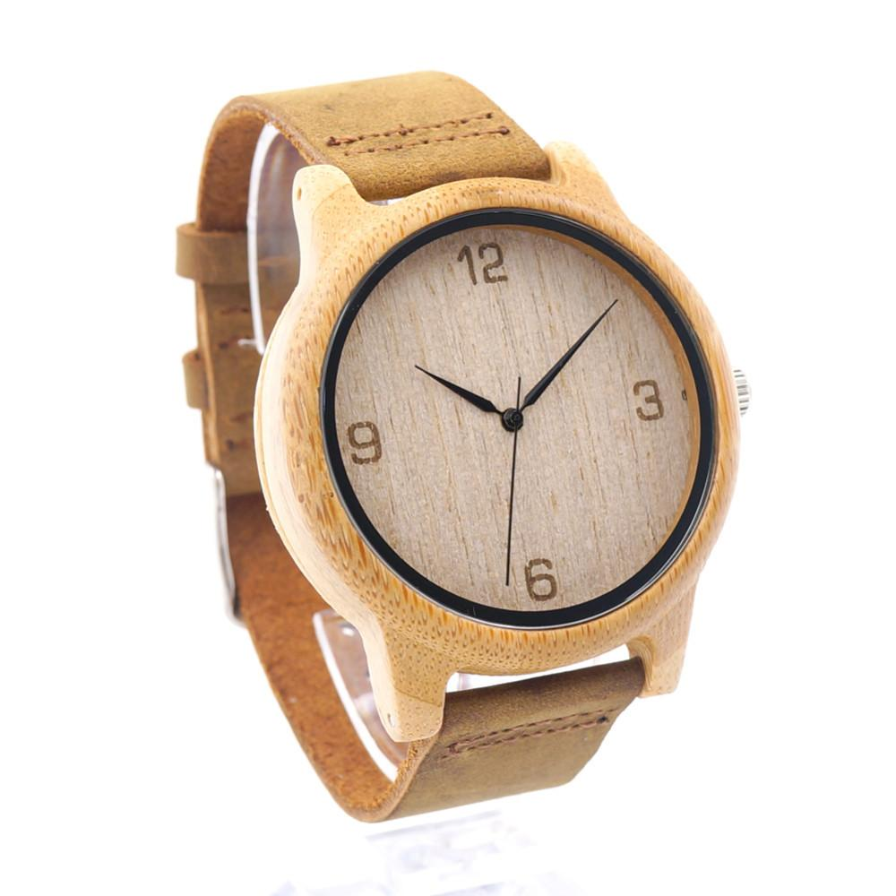 BOBO BIRD  Women Casual Antique Round Wooden Watch With Leather Strap - women watches - Gaghy.com