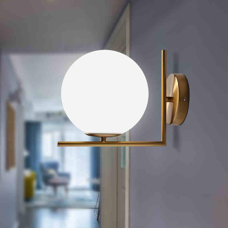 Glass LED Ball Globe Wall Lights Indoor Home Decoration Lighting E27 Luminaire - wall lamp - Gaghy.com