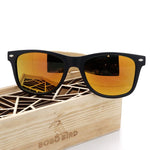 Mens Summer Style Vintage Black Square Sunglasses With Bamboo - Men Accessories - Gaghy.com