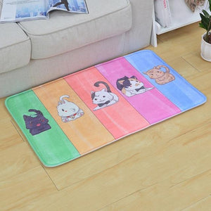 Welcome Floor Mats Animal Cat Printed Bathroom Kitchen Carpets - floor mats - Gaghy.com