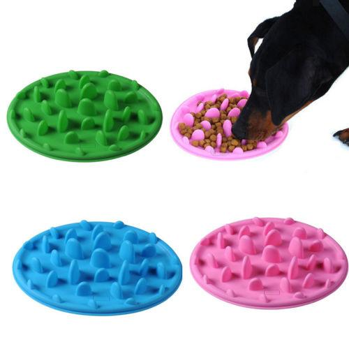 Pet Dog Cat Slow Down Feeding Anti Choke Anti Slip Silicone Bowls - pets bowl - Gaghy.com