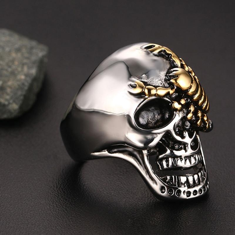 Vnox Men's Scorpion Skull Rings - halloween - Gaghy.com