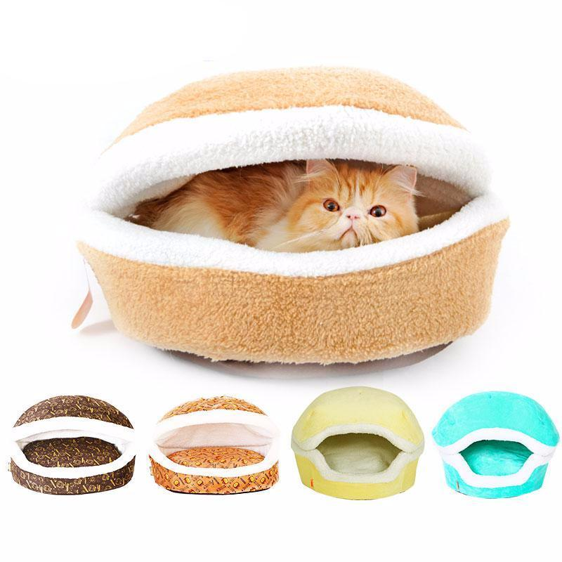 Cat Hamburger Warm Bed House - pets bed - Gaghy.com