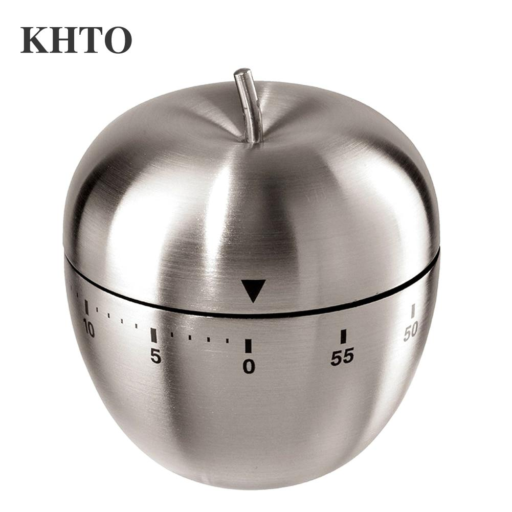 Stainless Steel Kitchen Cooking Mechanical Timer Clock Apple Shape - gadget - Gaghy.com