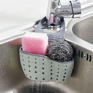 Sink Shelf Soap Sponge Drain Rack Bathroom Holder Kitchen Storage Organizer - kitchen - Gaghy.com