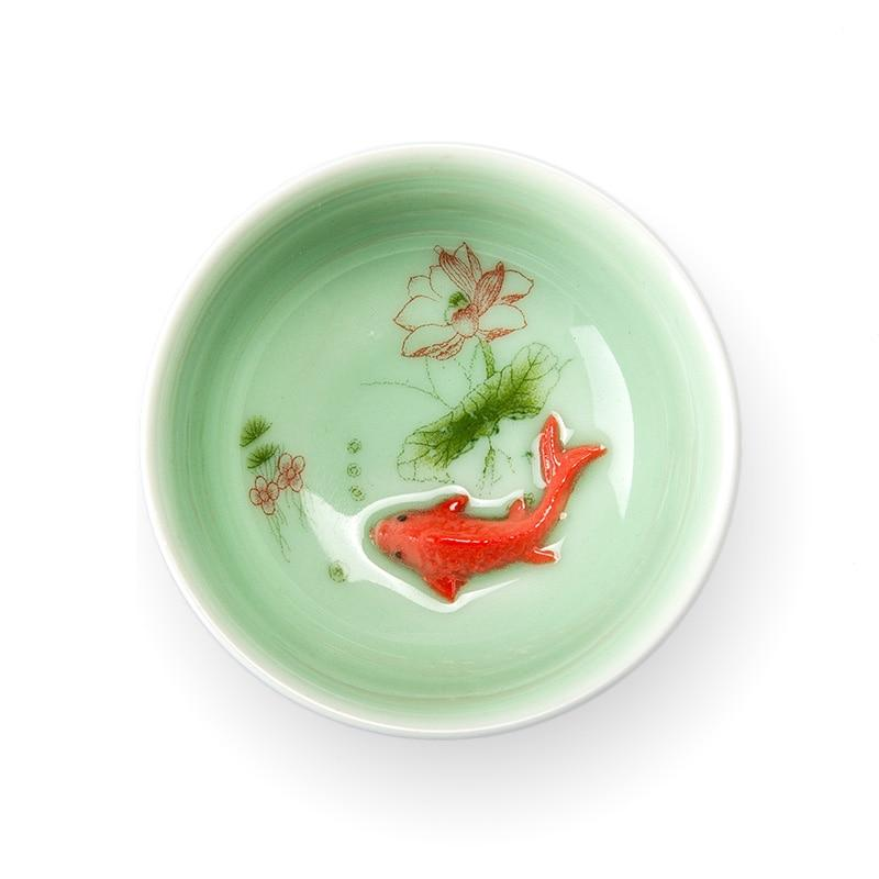 Porcelain Celadon Fish Ceramic China Kung Fu Tea Set - drinkware - Gaghy.com