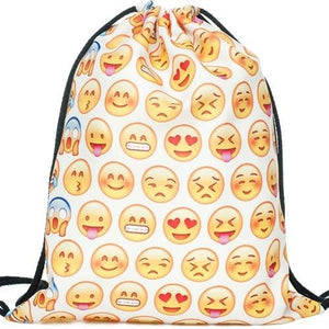 Lightweight Drawstring Emoji Bag - TEROF