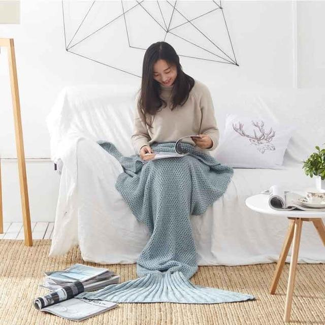 Mermaid Tail Kitted Blanket - TEROF