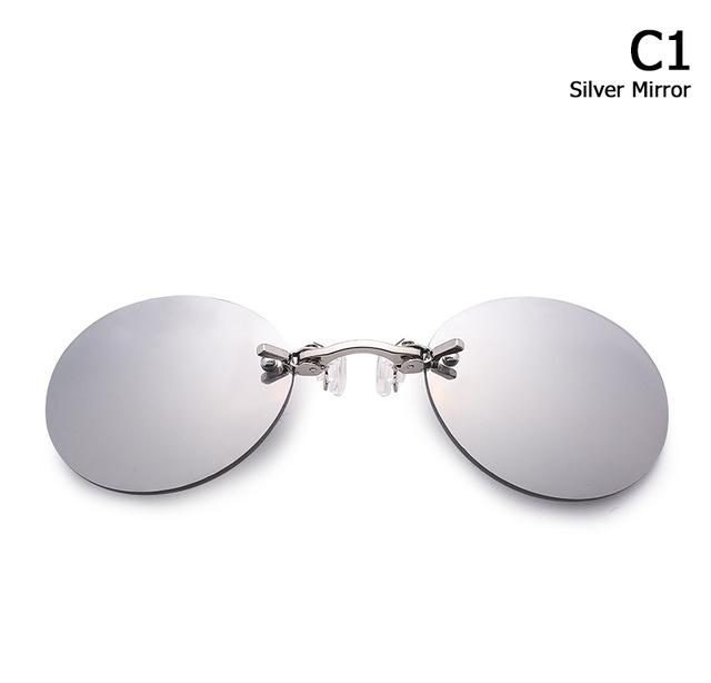 Men's Rimless Clamp Glasses - TEROF