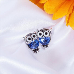 Crystal Owl Earrings - TEROF