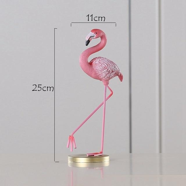 Pink Flamingo Desktop Figurines - TEROF
