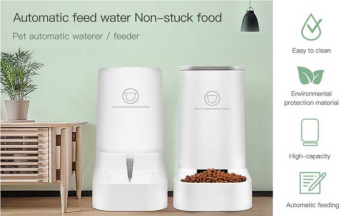 automatic pet food water dispenser