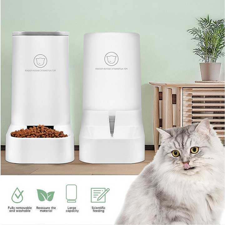 automatic food and water feeder pets