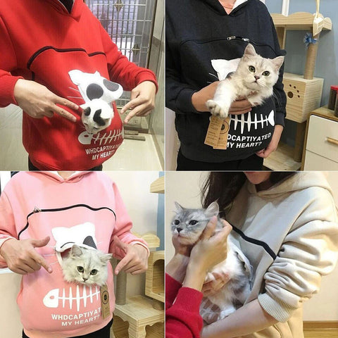 Kitty Cat Hoodie Pouch