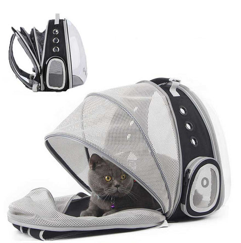 Pet On The Go Carrier Backpack Enclosure Pettish