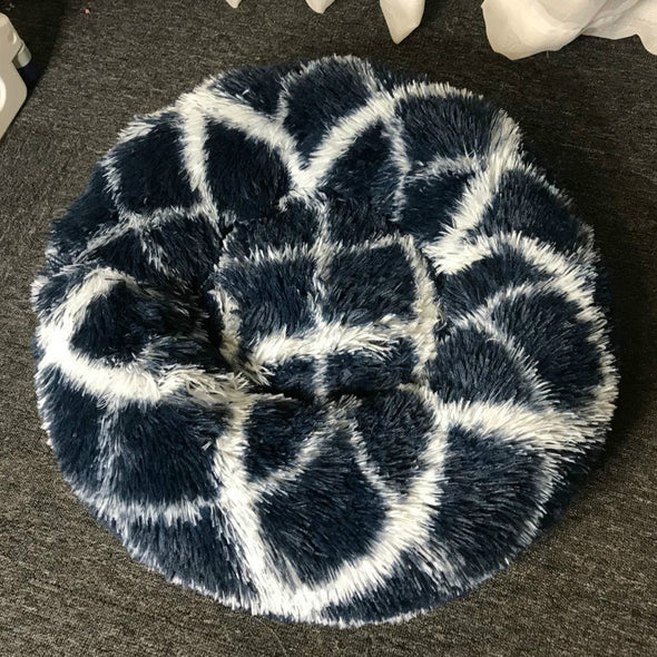 Patterned Anti-Anxiety Pet Beds