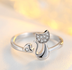 Cat Lover Ring 925 Sterling Silver