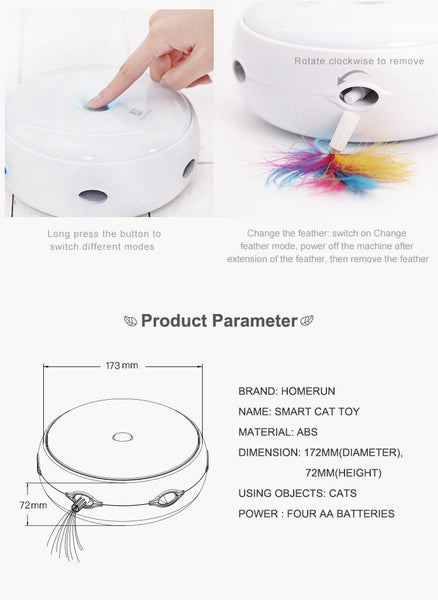 Smart Feather Teaser Toy