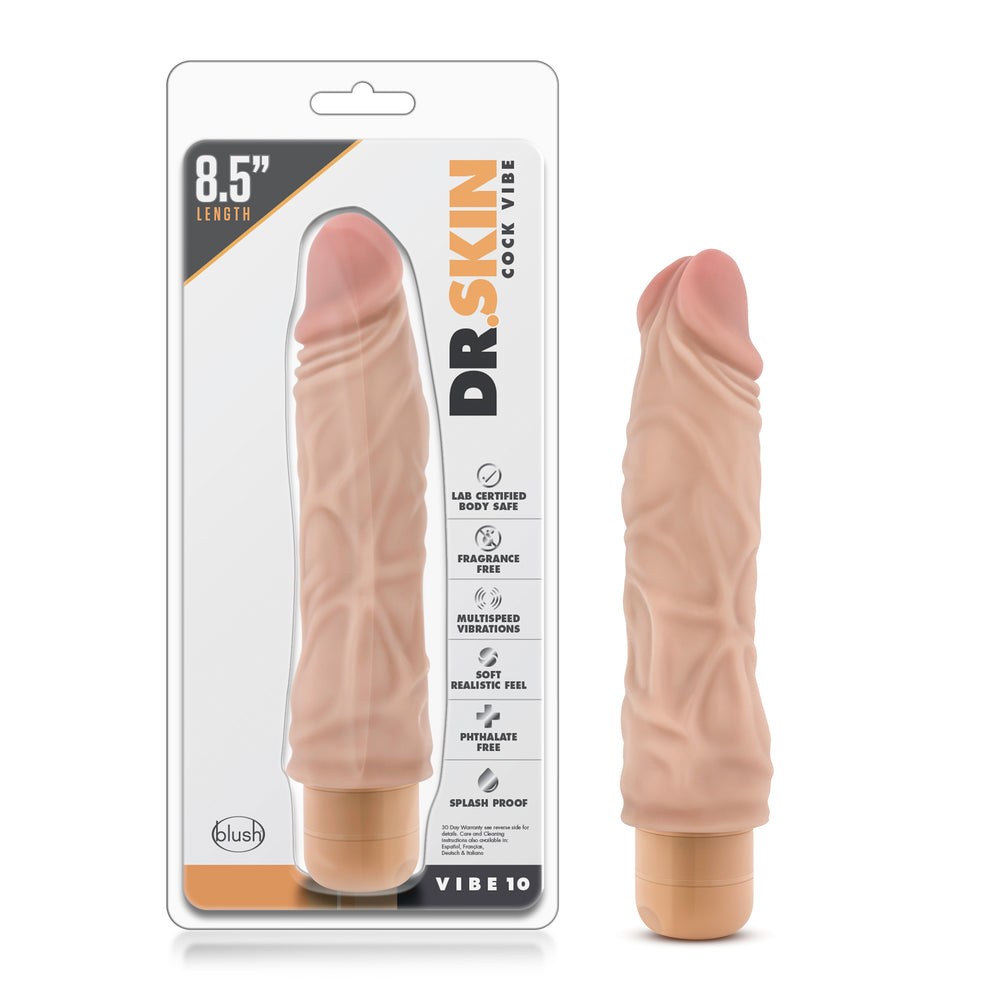 Dr. Skin - Cock Vibe 10 - 8.5 Inch Vibrating Cock - Beige