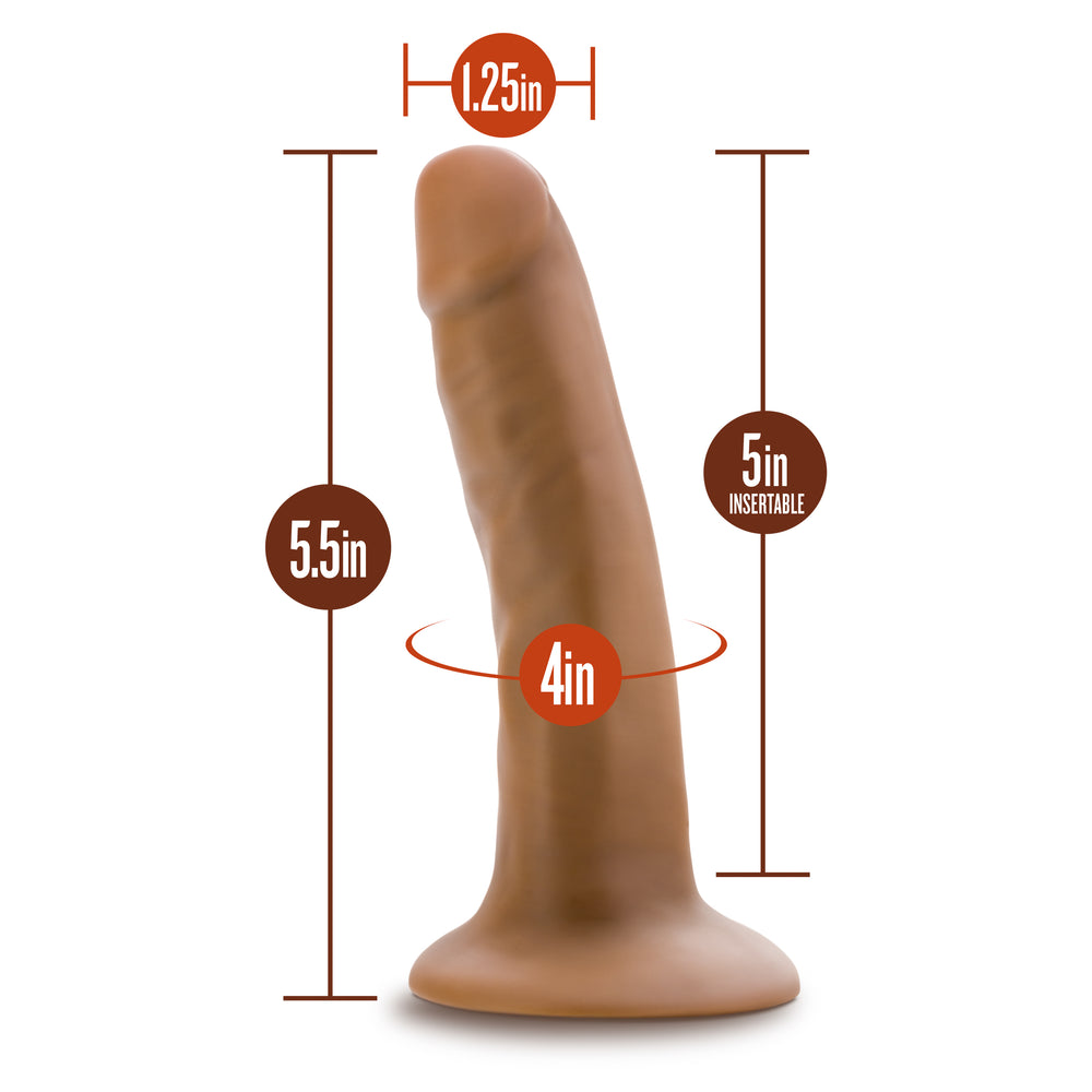 Silicone Willy's - 5.5 Inch Silicone Dildo - Mocha