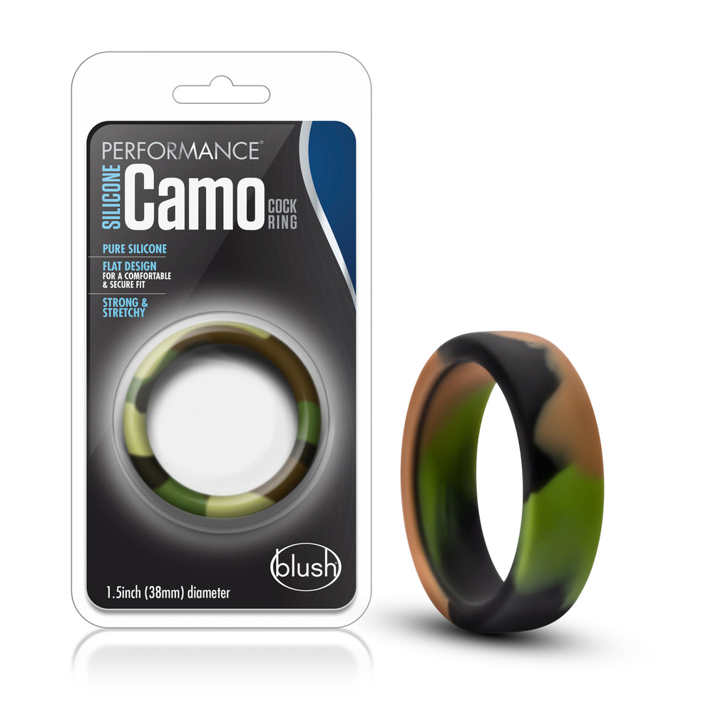 Performance - Silicone Camo Cock Ring - Green Camouflage