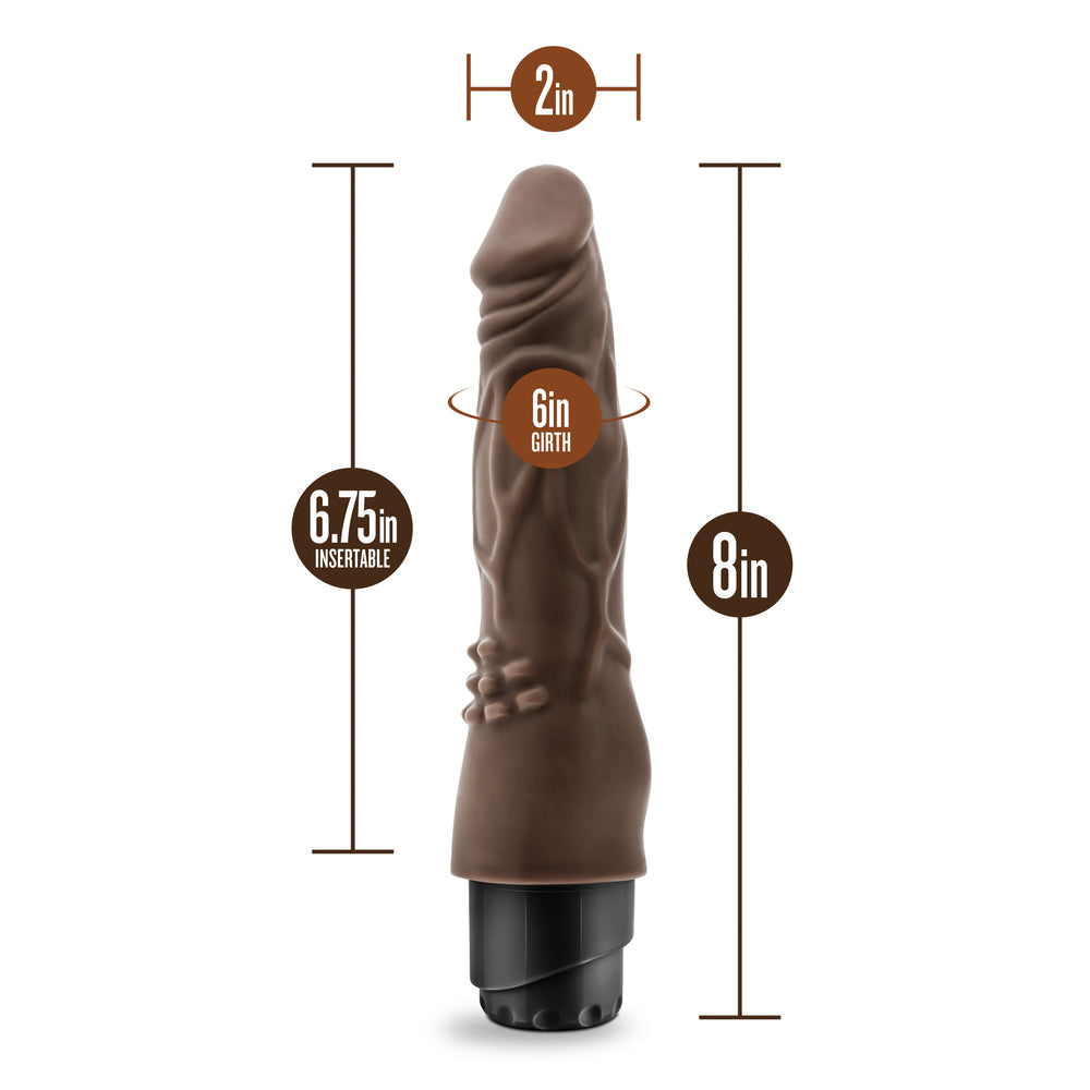 Dr. Skin - Cock Vibe 4 - 8 Inch Vibrating Cock - Chocolate
