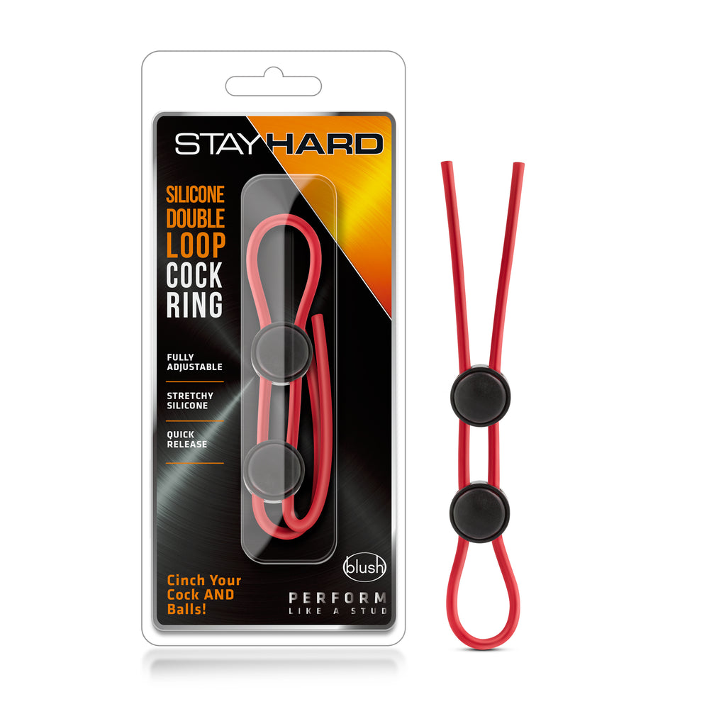 Stay Hard - Silicone Double Loop Cock Ring - Black